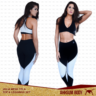 Julia Mesh Tela Top & Leggings Set #ABAJMTSET