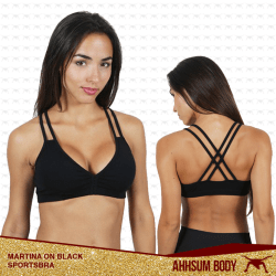 Martina on Black Sports Bra #ABAMARON