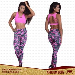 Pink Camouflage Prints Leggings #ABAPCPFLEG