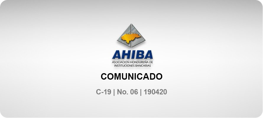 Comunicado - C-19 No. 06 190420