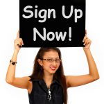 Sign Up Now Message Showing Immediate Registration