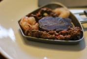 beef, shrimp and potato