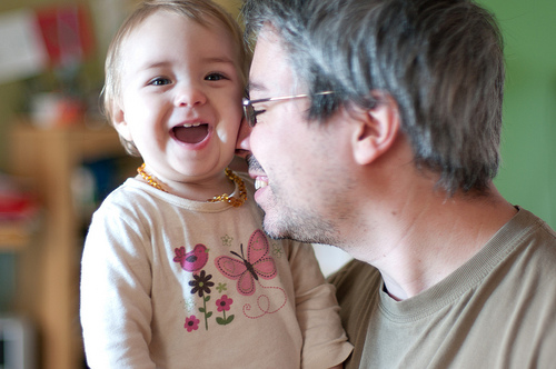 Willa with her daddy