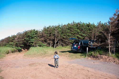 campsite on PEI (right on the beach)