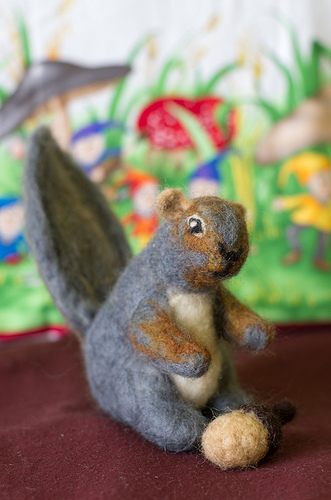 Needle felted Squirrel