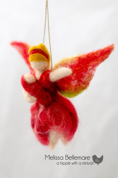Needle Felted fairy ornament