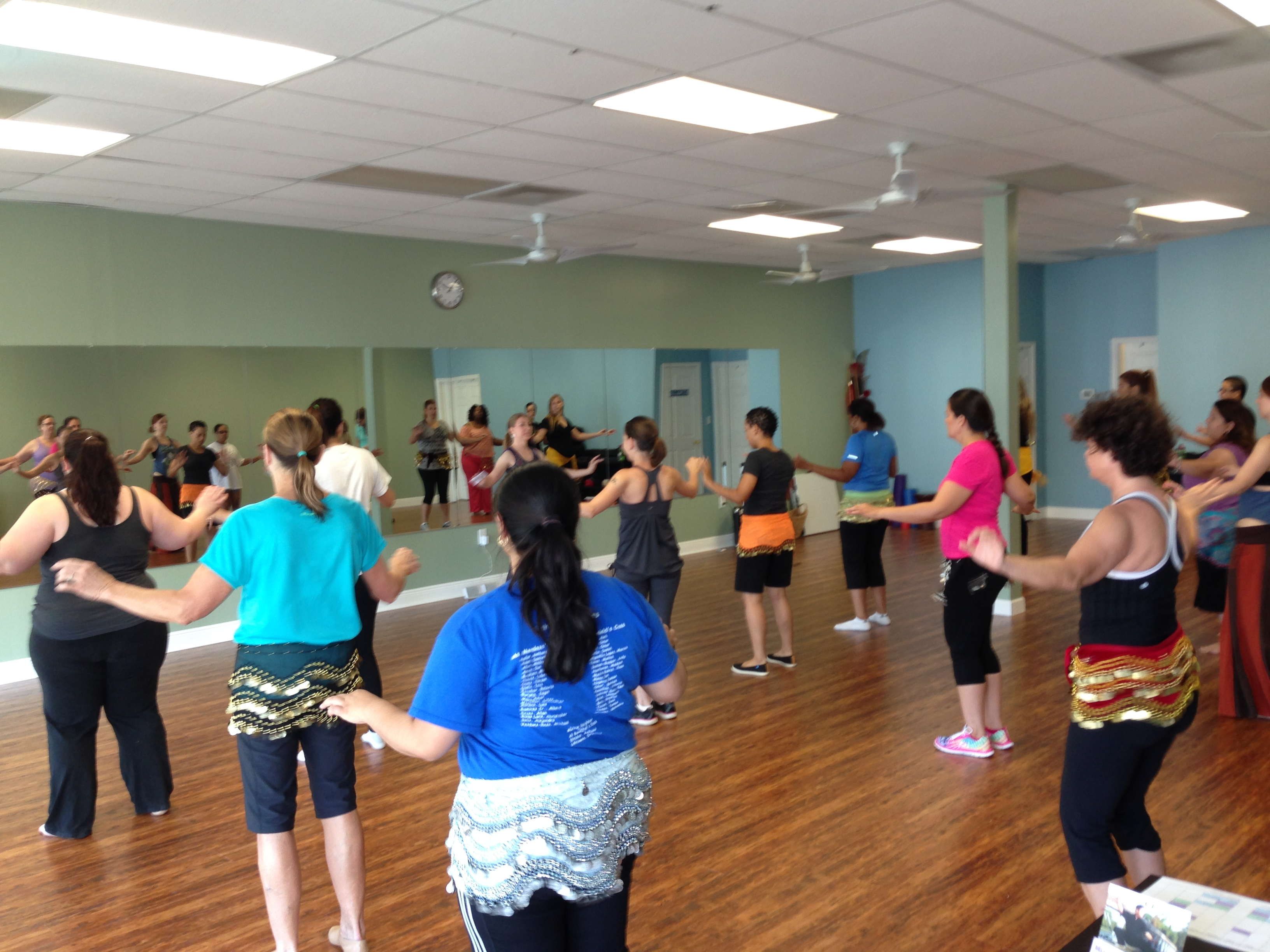 Our First Belly Dance Class at OPA 2014