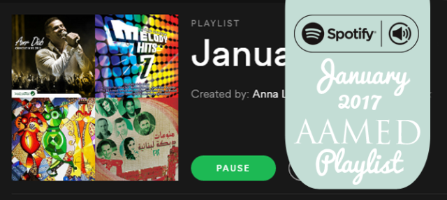 January 2017 AAMED Belly Dance Music Playlist