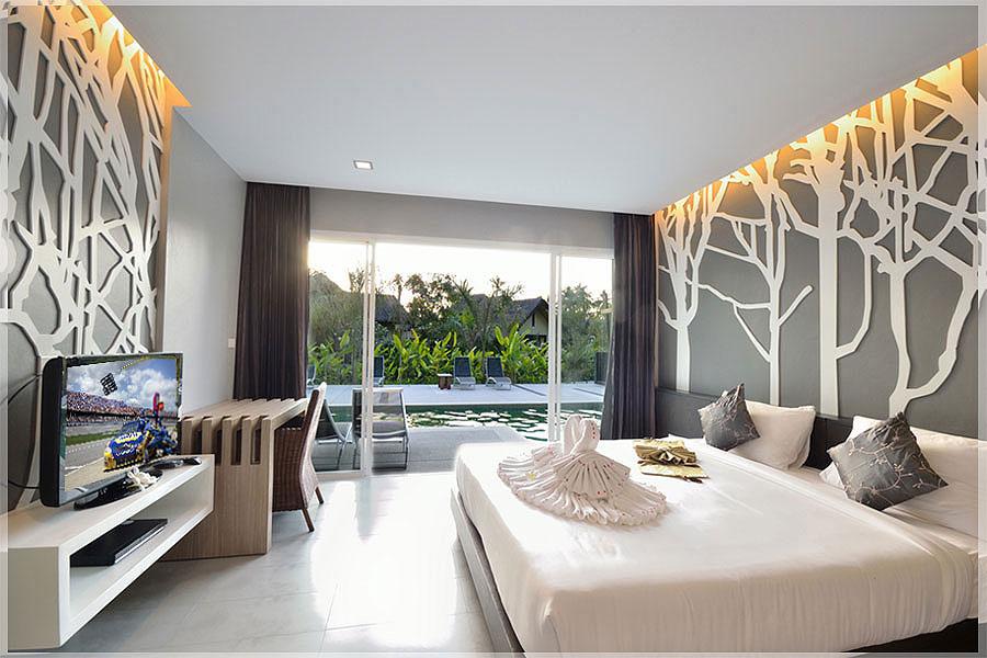 Desain Interior Kamar Tidur Hotel Minimalis Sederhana Mewah