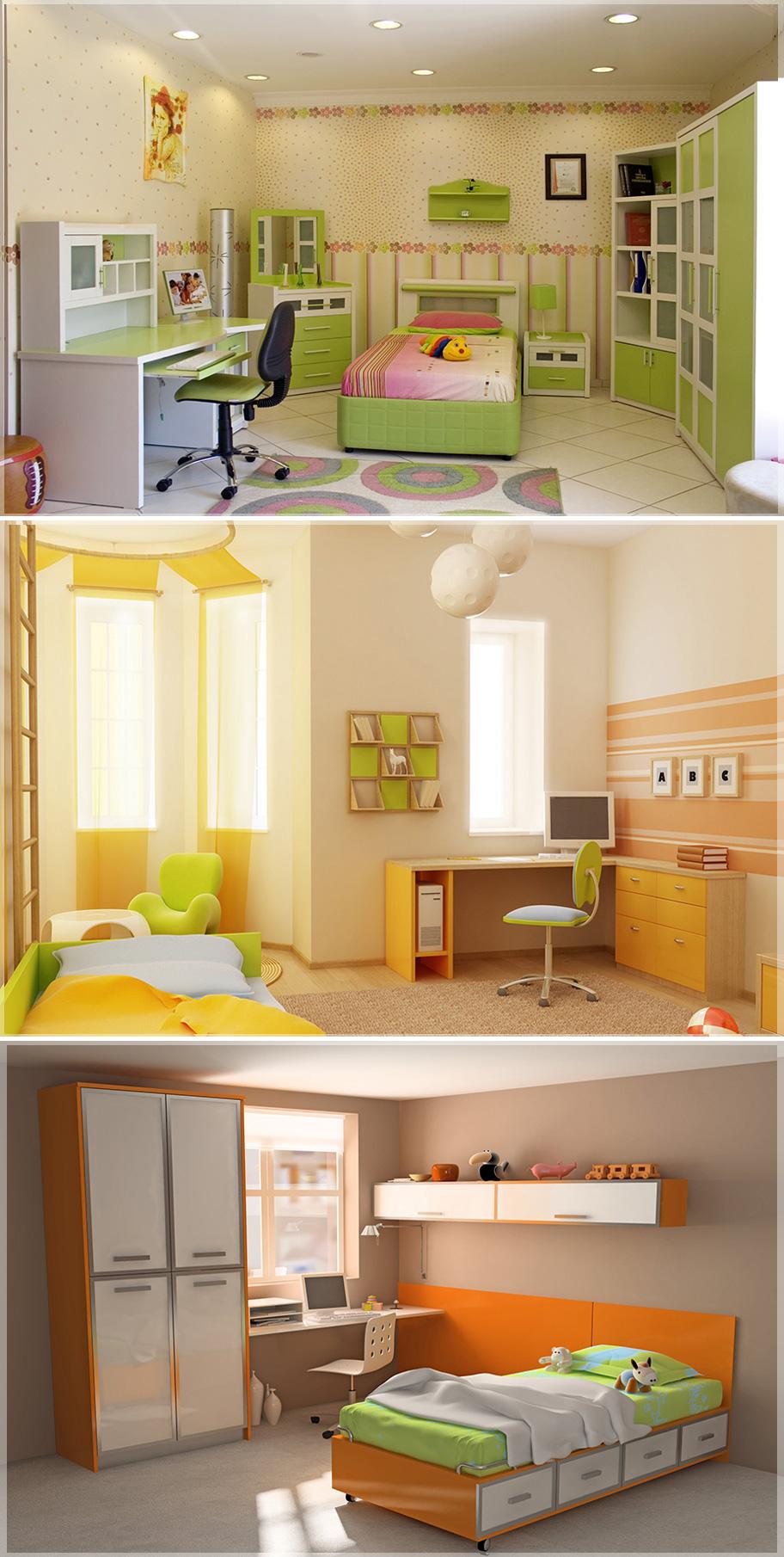 Desain Interior Kamar Tidur Anak Perempuan Dan Laki  Jasa