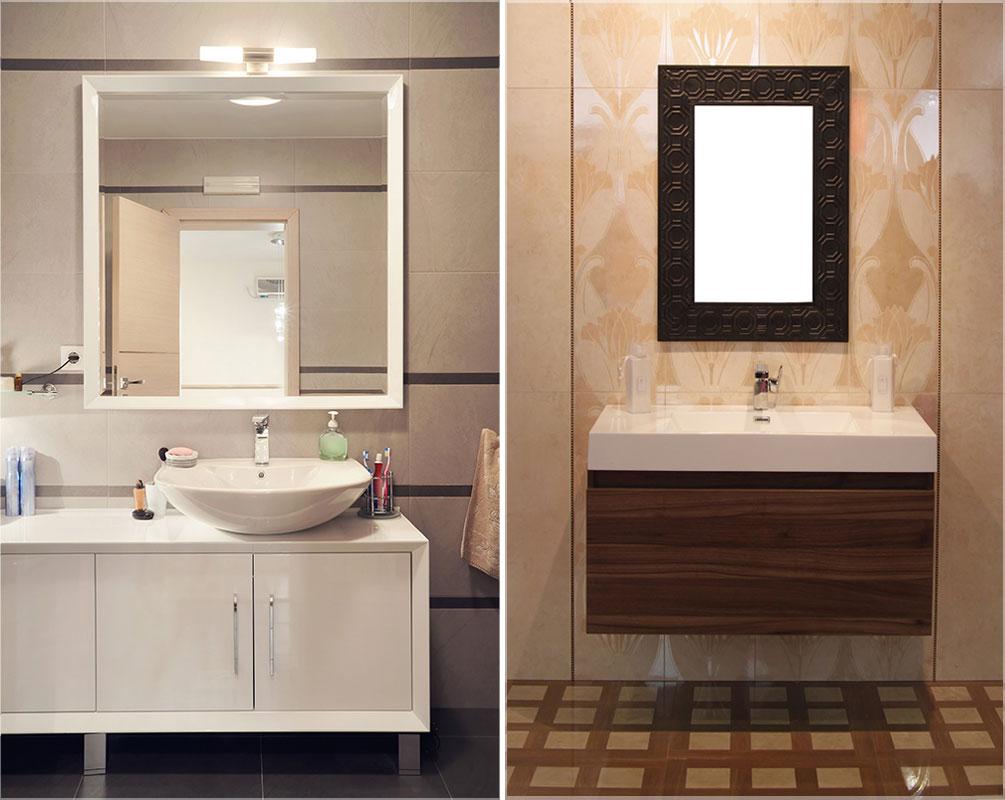Model Kaca Cermin Dinding Kamar Mandi  Jasa Desain