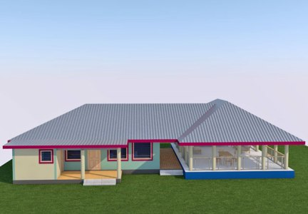 Cost of building a house in Samoa - House Hibiscus Type 2