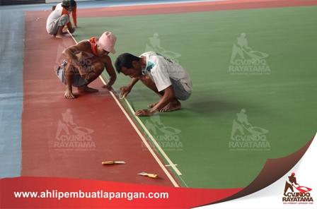 pembuatan line basket court, garis lapangan, pengecatan lapangan, kontraktor lapangan, ahli pembuat lapangan