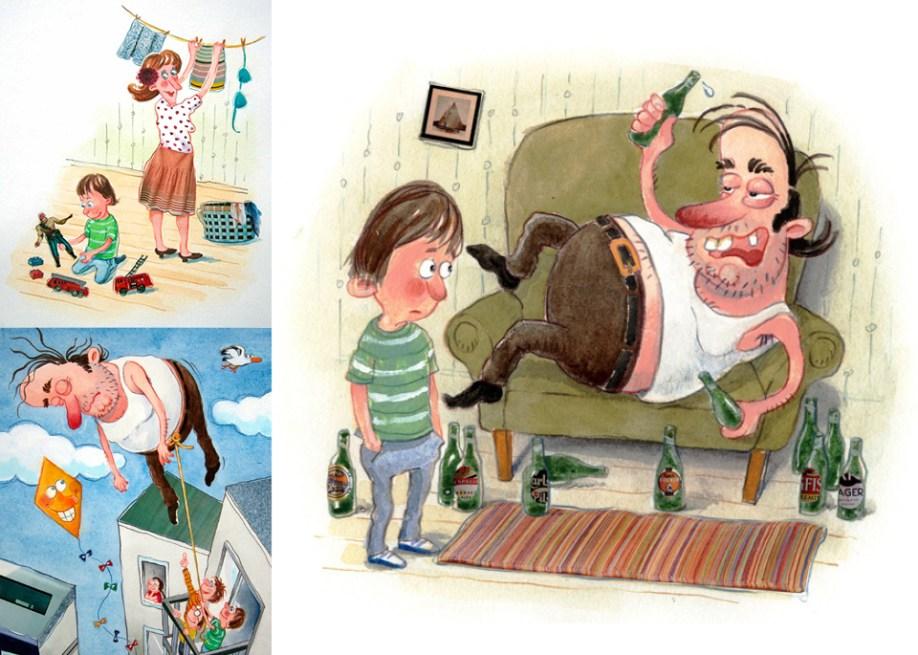 Illustrationer til Den legetøjsløse stakkel, Fandango, Gyldendal Undervisning
