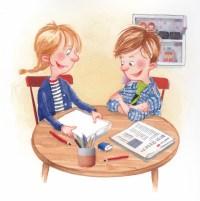 Illustration til danskbog