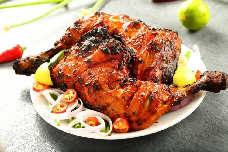 طريقة عمل دجاج تندوري بالفرن علي الطريقة الهندية