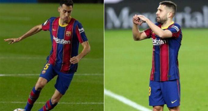 برشلونة يعلن تخفيض راتب بوسكيتس وألبا لاستكمال تسجيل سيرجيو أجويرو