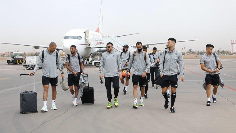 وصول المنتخب الجزائري إلى المغرب لمواجهه نظيره بوركينا فاسو في تصفيات المونديال