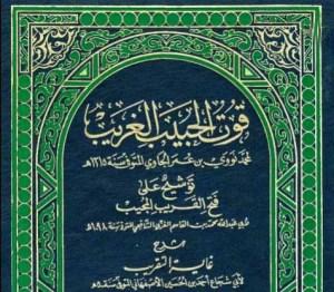 Kitab Qutul Habib Gharib Karya Syekh Nawawi