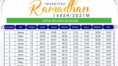 Jadwal Imsakiyah Ramadhan Kuta Cane 2021