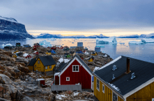 This all island in Greenland is home to just 1,200 people – and what lucky people they are to live somewhere this beautiful. (Pic: Rayann Elzein)