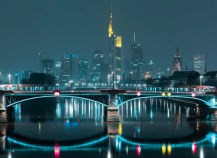 This spectacular view of Frankfurt is the perfect example of the modern city at night. (Pic: Vitaly Pankratov)