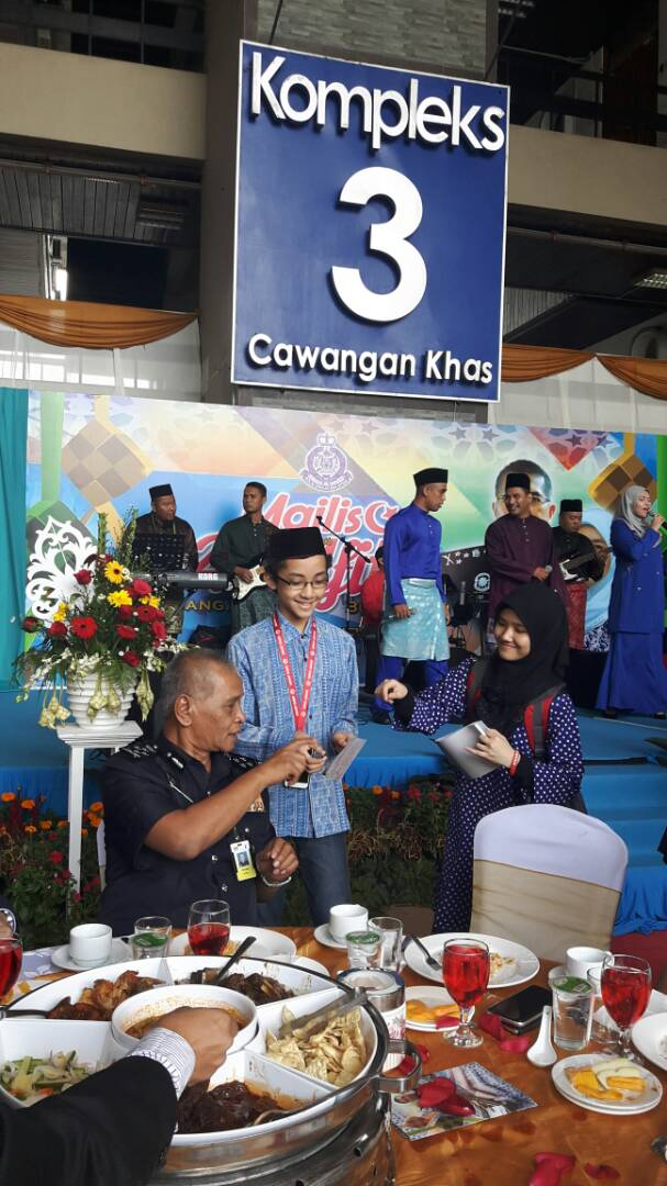 With the Deputy Inspector-General of PDRM, Tan Sri Nor Rashid Ibrahim at the event, July 11, 2017.