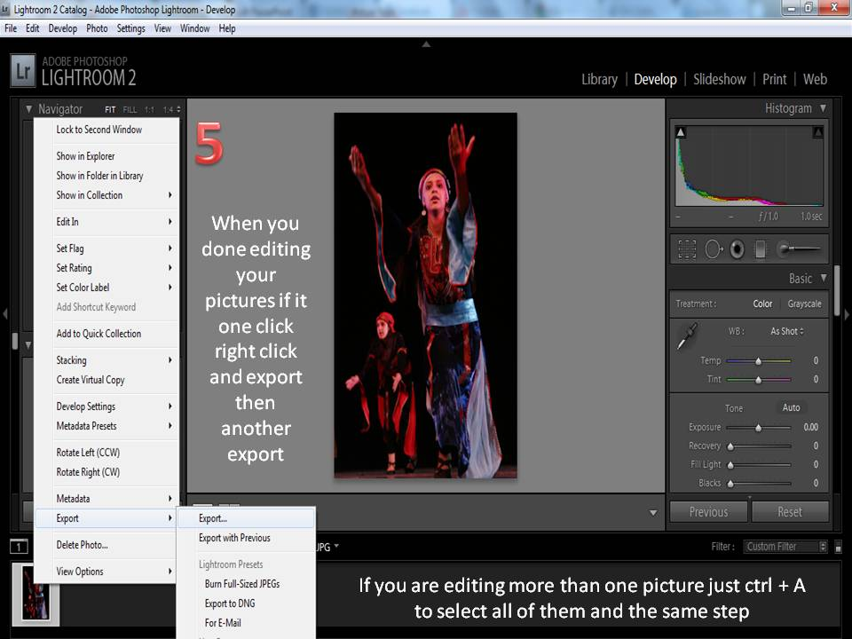 How to use Adobe light room ? (6/6)