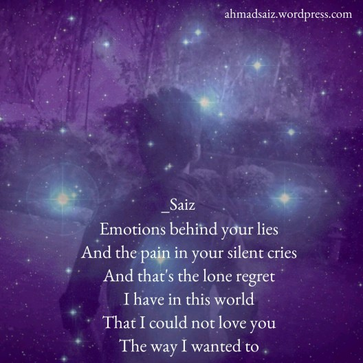 I could not love you poetry by Saiz