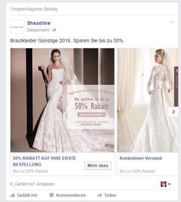 Hochzeitskleid kaufen. Och nee, lass mal.