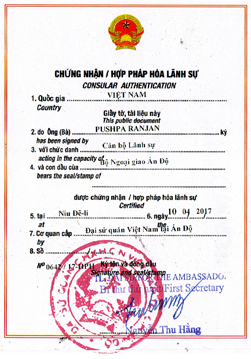 Agreement Attestation for Vietnam in Rajpipla, Agreement Legalization for Vietnam , Birth Certificate Attestation for Vietnam in Rajpipla, Birth Certificate legalization for Vietnam in Rajpipla, Board of Resolution Attestation for Vietnam in Rajpipla, certificate Attestation agent for Vietnam in Rajpipla, Certificate of Origin Attestation for Vietnam in Rajpipla, Certificate of Origin Legalization for Vietnam in Rajpipla, Commercial Document Attestation for Vietnam in Rajpipla, Commercial Document Legalization for Vietnam in Rajpipla, Degree certificate Attestation for Vietnam in Rajpipla, Degree Certificate legalization for Vietnam in Rajpipla, Birth certificate Attestation for Vietnam , Diploma Certificate Attestation for Vietnam in Rajpipla, Engineering Certificate Attestation for Vietnam , Experience Certificate Attestation for Vietnam in Rajpipla, Export documents Attestation for Vietnam in Rajpipla, Export documents Legalization for Vietnam in Rajpipla, Free Sale Certificate Attestation for Vietnam in Rajpipla, GMP Certificate Attestation for Vietnam in Rajpipla, HSC Certificate Attestation for Vietnam in Rajpipla, Invoice Attestation for Vietnam in Rajpipla, Invoice Legalization for Vietnam in Rajpipla, marriage certificate Attestation for Vietnam , Marriage Certificate Attestation for Vietnam in Rajpipla, Rajpipla issued Marriage Certificate legalization for Vietnam , Medical Certificate Attestation for Vietnam , NOC Affidavit Attestation for Vietnam in Rajpipla, Packing List Attestation for Vietnam in Rajpipla, Packing List Legalization for Vietnam in Rajpipla, PCC Attestation for Vietnam in Rajpipla, POA Attestation for Vietnam in Rajpipla, Police Clearance Certificate Attestation for Vietnam in Rajpipla, Power of Attorney Attestation for Vietnam in Rajpipla, Registration Certificate Attestation for Vietnam in Rajpipla, SSC certificate Attestation for Vietnam in Rajpipla, Transfer Certificate Attestation for Vietnam