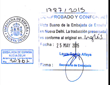 Agreement Attestation for Spain in Ahmedabad, Agreement Legalization for Spain , Birth Certificate Attestation for Spain in Ahmedabad, Birth Certificate legalization for Spain in Ahmedabad, Board of Resolution Attestation for Spain in Ahmedabad, certificate Attestation agent for Spain in Ahmedabad, Certificate of Origin Attestation for Spain in Ahmedabad, Certificate of Origin Legalization for Spain in Ahmedabad, Commercial Document Attestation for Spain in Ahmedabad, Commercial Document Legalization for Spain in Ahmedabad, Degree certificate Attestation for Spain in Ahmedabad, Degree Certificate legalization for Spain in Ahmedabad, Birth certificate Attestation for Spain , Diploma Certificate Attestation for Spain in Ahmedabad, Engineering Certificate Attestation for Spain , Experience Certificate Attestation for Spain in Ahmedabad, Export documents Attestation for Spain in Ahmedabad, Export documents Legalization for Spain in Ahmedabad, Free Sale Certificate Attestation for Spain in Ahmedabad, GMP Certificate Attestation for Spain in Ahmedabad, HSC Certificate Attestation for Spain in Ahmedabad, Invoice Attestation for Spain in Ahmedabad, Invoice Legalization for Spain in Ahmedabad, marriage certificate Attestation for Spain , Marriage Certificate Attestation for Spain in Ahmedabad, Ahmedabad issued Marriage Certificate legalization for Spain , Medical Certificate Attestation for Spain , NOC Affidavit Attestation for Spain in Ahmedabad, Packing List Attestation for Spain in Ahmedabad, Packing List Legalization for Spain in Ahmedabad, PCC Attestation for Spain in Ahmedabad, POA Attestation for Spain in Ahmedabad, Police Clearance Certificate Attestation for Spain in Ahmedabad, Power of Attorney Attestation for Spain in Ahmedabad, Registration Certificate Attestation for Spain in Ahmedabad, SSC certificate Attestation for Spain in Ahmedabad, Transfer Certificate Attestation for Spain