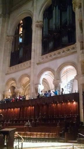 The choir in the balcony