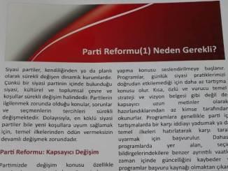 CHP PARTİ REFORMU RAPORU PROF. DR. SENCER AYATA