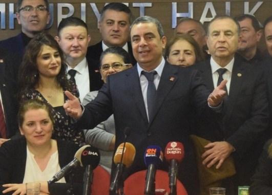 CHP İL BAŞKANI İSMET KARACA VE KEMAL DEMİREL