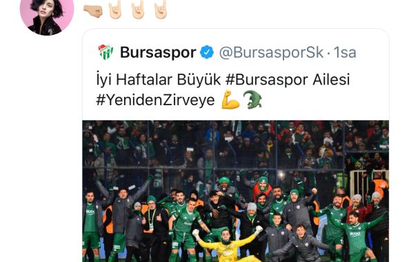GONCA VUSLATERİ BURSASPOR PAYLAŞIMI TWİTTER