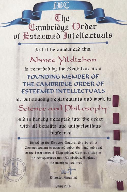 the cambridge order of esteemed intellectuals