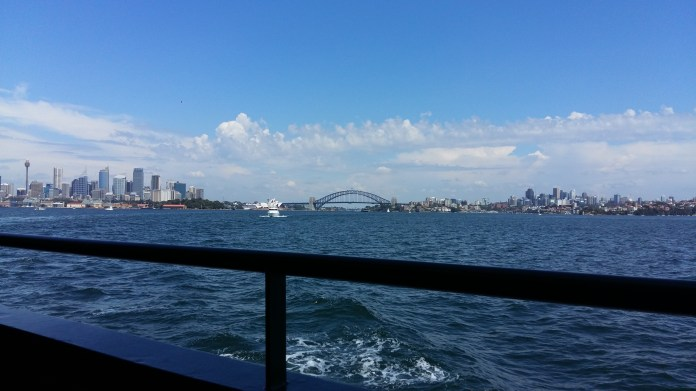 the ferry ride was shaky and seasick-y