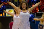 A Rock Chalk Dancer dances to the beat of the music at the women's basketball game against Fort Hays State on Oct. 30. The Jayhawks won 98-71. Ashley Hocking/KANSAN