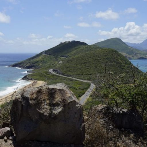 St . Kitts - Ausblick auf Timothy Hill