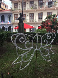 Panama City mit Weihnachtsdeko