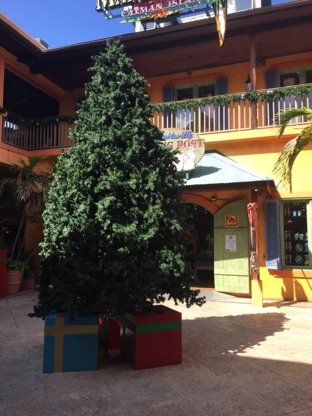 Grand Cayman Weihnachtsbaum mit Geschenken