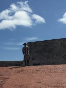Castillo San Felipe de Barajas - Empfang dort einen Conquistador im Kostüm