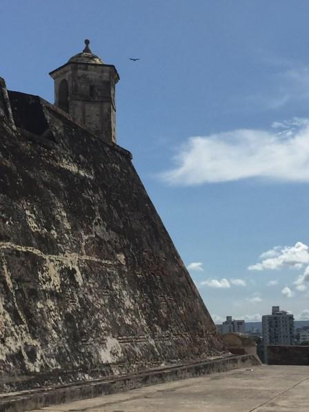 Castillo San Felipe de Barajas - Wehrmauer mit Ausguck