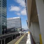 Amsterdam - Blick vom Schiff auf das Hafenterminal