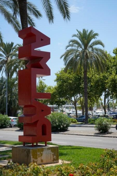Schild mit der Aufschrift Palma