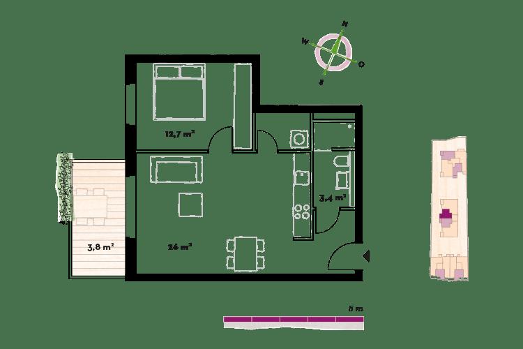 12 Zimmer Wohnungen  AHOJ