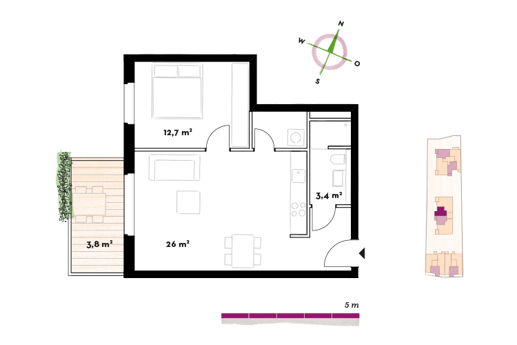 1—2 Zimmer Wohnungen AHOJ