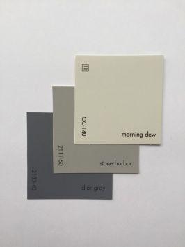 Morning dew, stone harbor, dior gray