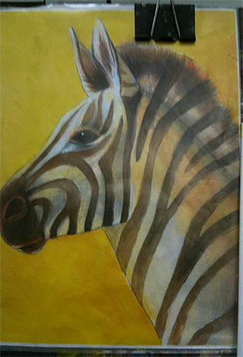 Zebra Acrylic Paint